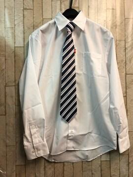 新品☆男の子170サイズ白シャツ&簡単ネクタイ フォーマル☆n995
