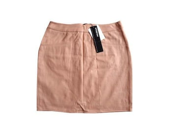 新品 定価6300円 MURUA ムルーア 合革 レザー スカート ピンク