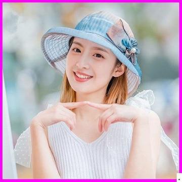 おすすめ春帽子☆ 夏定番 4# UV対 ラワーハット 934