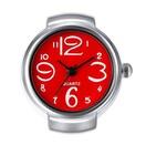 特A品 新品1円〜★送料無料★ミニマムオシャレ フィンガーリング レッドシルバー時計