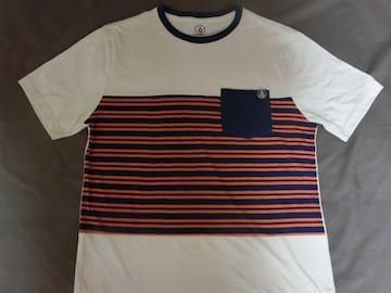 ボルコム【VOLCOM】ボーダー柄 ポケット付TシャツUS L
