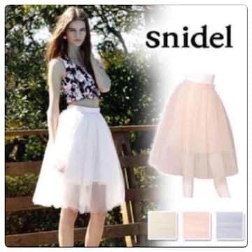 新品同様スナイデル snidel  チュールスカート