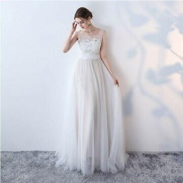 ウェディングドレス ホワイト エンパイアライン