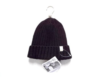 新品 ニット帽 帽子 レディース ワッチキャップ 黒