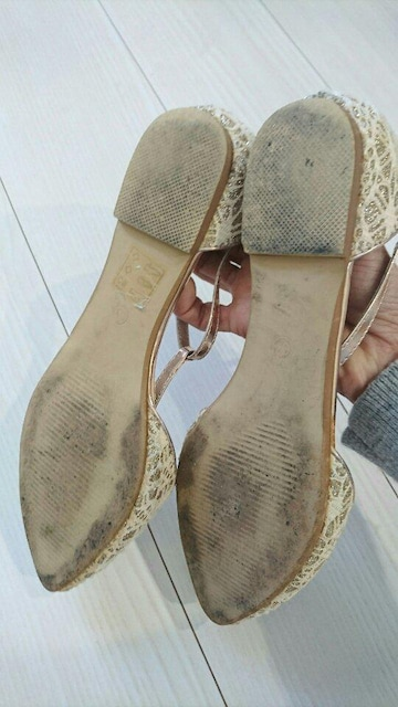 L&A フラットシューズ キラキラレースが素敵です < 女性ファッションの