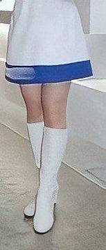 A2011 ファッションアイテム/ホワイトロングブーツ