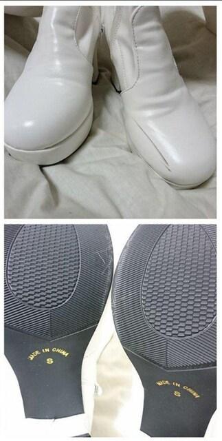 A2011 ファッションアイテム/White long boots < 女性ファッションの