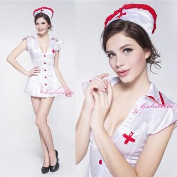 白 ナース服 コスプレ衣装 コスチューム