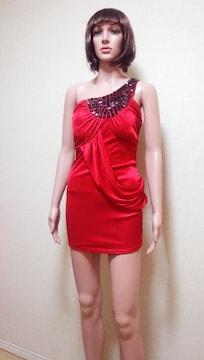 新品タグ付☆ageha黒ビジュ盛り�A光沢ドレープドレス☆3点で即落