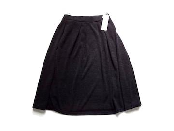 新品 定価1500円 beauty fit 黒 起毛 膝丈 フレア スカート M