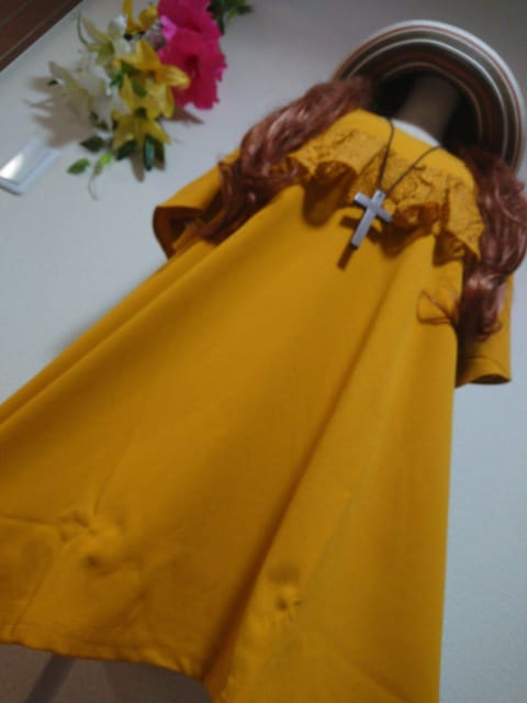 ★新品タグ6L★フリルデザイン★Tシャツチュニ  < 女性ファッションの