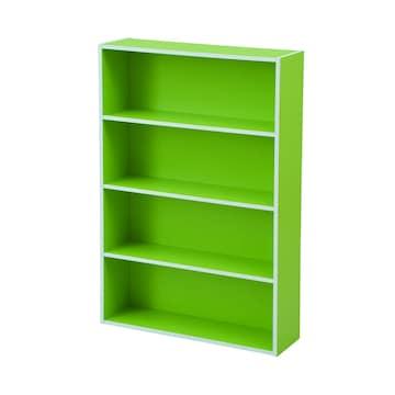 文庫本収納ラック 本棚カラーボックス ライトグリーン