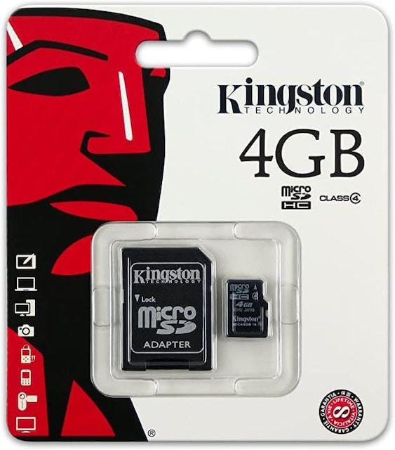 a007■Kingston SDC4/4GB  SDカード 4GB 2枚セット  < PC本体/周辺機器の