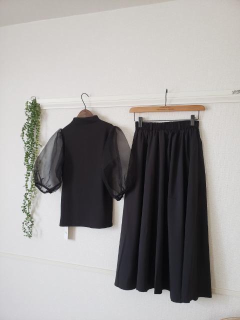 GRL★新品♪トップス&スカートのブラック2点セットアップ