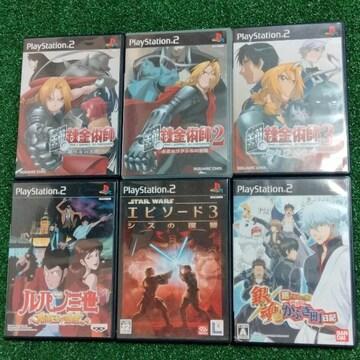 PS2ソフト6本まとめ売り!即決価格で組合せ自由♪#送料込み