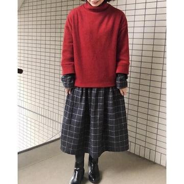 未使用 スタジオクリップ★リネン 起毛ワンピース