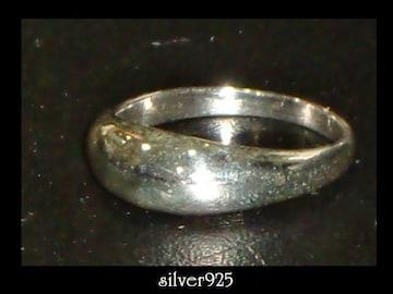 送料無料☆silver925甲丸ピンキーリング☆シルバー7号