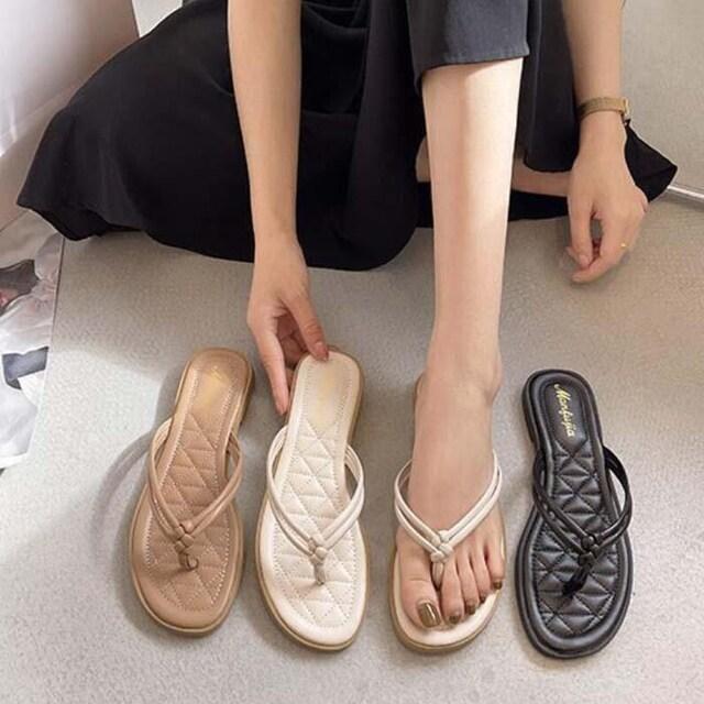 Y201即決 新品 トング サンダル 黒 24 エスペランサ ダイアナ ピンキー 好きに < 女性ファッションの