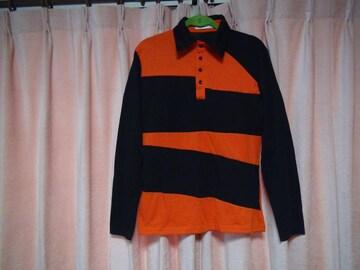 JUISHPENオレンジと黒のポロシャツ(L)!。2