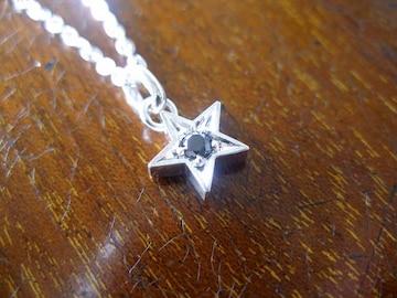 仁尾彫金『一つ星ブラックダイヤペンダント』ハンドメイド75