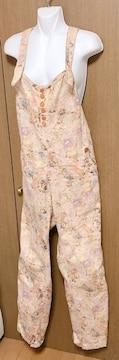 M19】ジェントルウーマン花柄オーバーオール サイズS