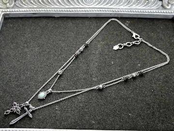 新品 Lucky brand アンティーク調エスニック十字架ネックレス
