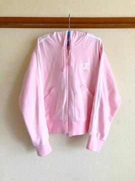 キッズ女児championチャンピオンピンク色パーカーサイズ160cm