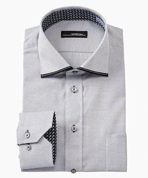 4Lサイズ!上質なデザイン!高貴紳士的!品格!形態安定!長袖ワイシャツ!