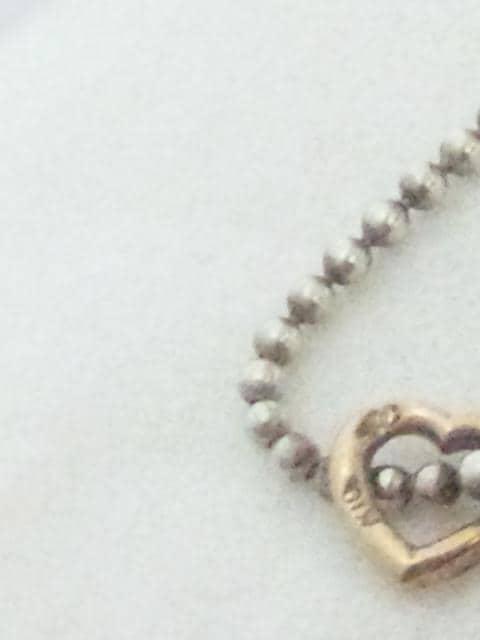 ヨンドシー【4℃】SILVER K10 シルバー 10金 プチ ネックレス < ブランドの