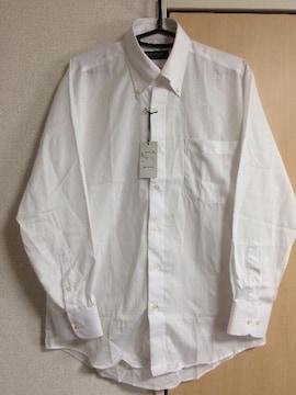 ドレスシャツ ワイシャツ ホワイト 地模様あり 新品