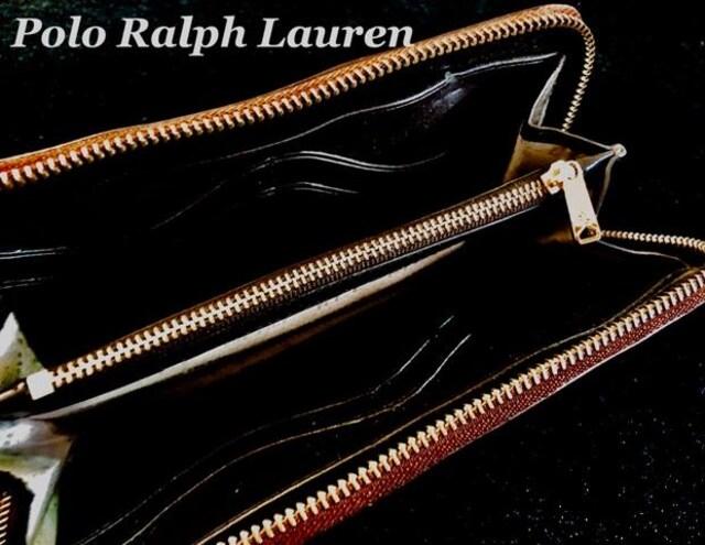 【Polo Ralph Lauren】ラウンドファスナー レザー 長財布/Brown < ブランドの