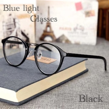 ボストン メガネ ブルーライトカット 伊達眼鏡 丸型 パソコン用