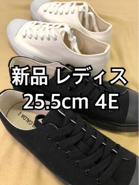 新品☆レディス25.5cm4Eローカットスニーカー2足セット☆d615