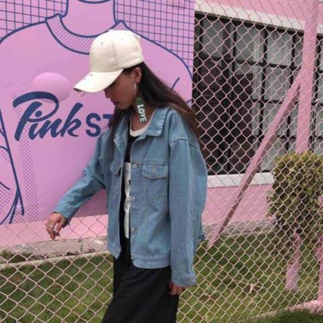 秋冬 新作 背中編み上げ 抜き襟デザイン アウター Gジャン デニム 上着 < 女性ファッションの