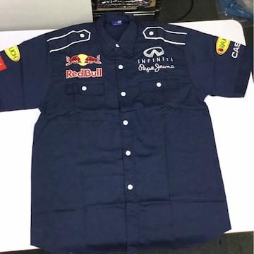 ワークシャツ XLサイズ レッドブル Red Bull ピットシャツ