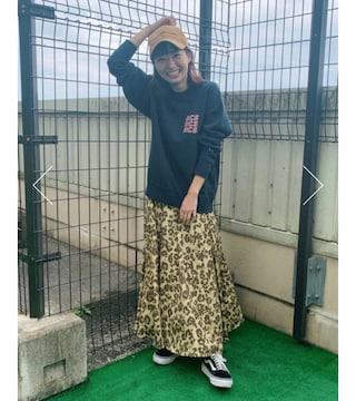 ロデオ★ animal patternスカート【柄BEG】