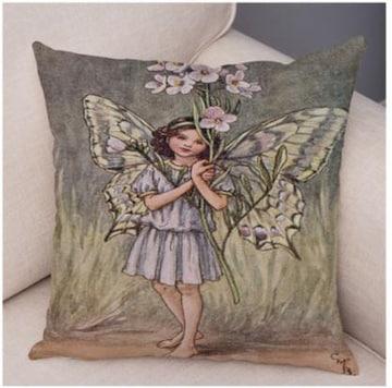 新品 花の妖精 フラワーフェアリー クッションカバー v