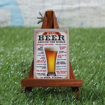 新品【マグネット】ビール 世界で注文「ビールくださーい」