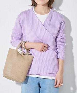 500スタ☆CIAOPANIC TYPYカシュクールリブニット☆新品タグ付き