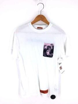 HERON PRESTON(ヘロン プレストン)FELPA HERON PATCH S/S TeeクルーネックTシャツ