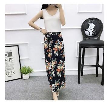 新品 花柄ラップスカート 巻きスカート フリーサイズ