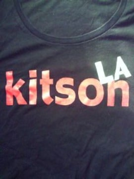 LA kitson キットソン UNIQLO ユニクロ コラボ キラキラ ラメ Tシャツ ブラック Lサイズ