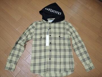 新品CHALLENGERチャレンジャーパーカーチェックシャツS黄半額