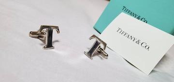正規 限定 ティファニー×トヨタ Tロゴカフス イニシャルエンブレム シルバー ゴシックネームボタン