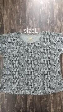 sizeL/プレイボーイ/ビッグシルエットTシャツ//