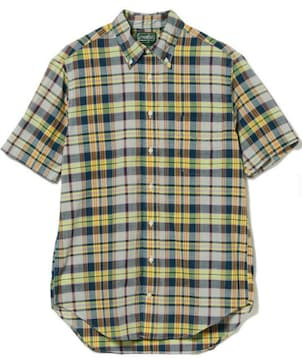 メンズ マドラスチェックシャツ