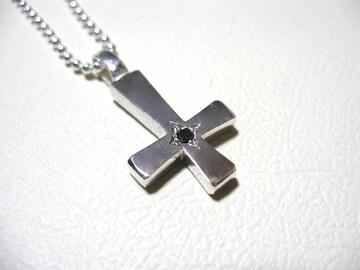 a phantom『一つ星ブラックダイヤ逆十字クロス』ハンドメイドb