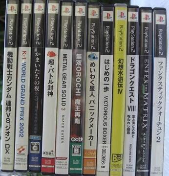 ゲームソフトDVD/12種まとめてどうぞ中古美品!!