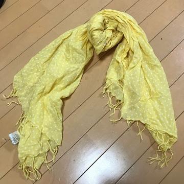 新品◆ticklish ticklish◆水玉ドット コットンストール◆黄色