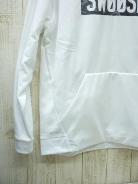 即決☆ナイキ特価 サーマ スウェットパーカー WHT/XL 裏起毛 保温 < 男性ファッションの